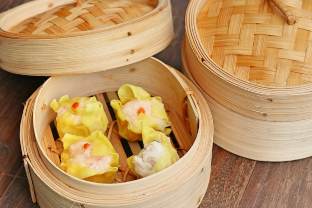 Chinese garnalen gestoomde dumplings