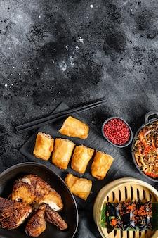 Chinese keuken gerechten verschillende vaste gerechten