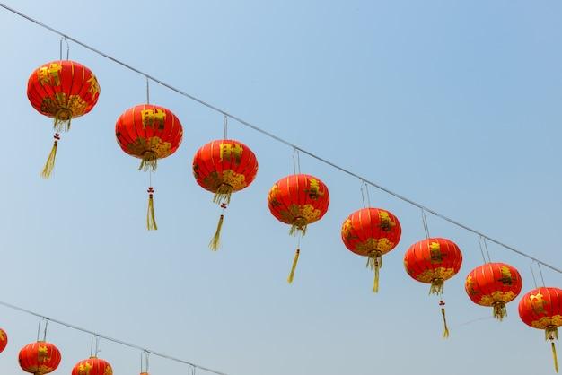 Chinese lantaarns tijdens nieuw jaarfestival