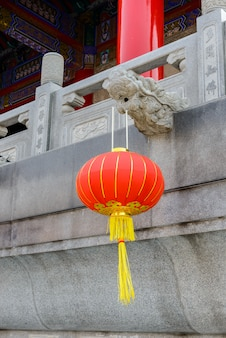 Chinese lantaarns tijdens nieuwjaarsfestival