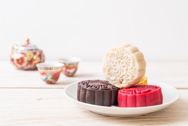 Chinese maancake macadamia en witte chocoladesmaak voor mid-autumn festival