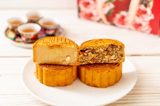 Chinese maancake voor chinees mid-herfstfestival
