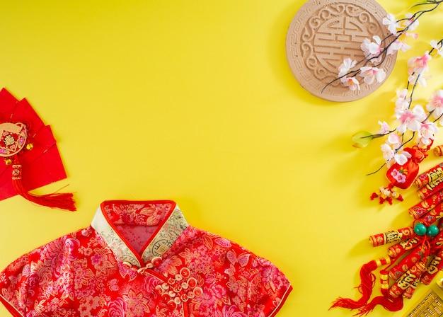 Chinese nieuwe jaarbannerachtergrond