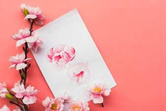 Chinese nieuwe jaarsamenstelling met document