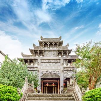 Chinese oude architectuur en overwelfde galerij