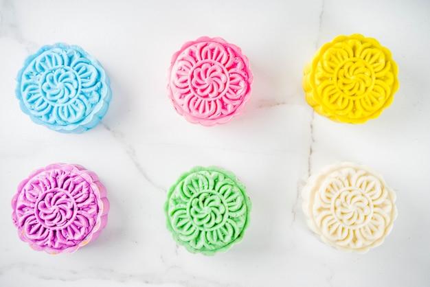 Chinese sneeuwhuid mooncakes