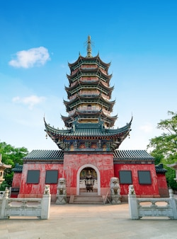 Chinese traditionele tempelarchitectuur en pagode
