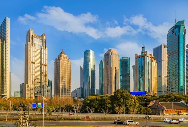 Chinese wolkenkrabber financiële aantrekkingskracht china rivier
