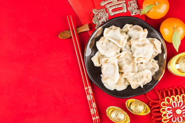 Chinezen eten knoedels op festivals