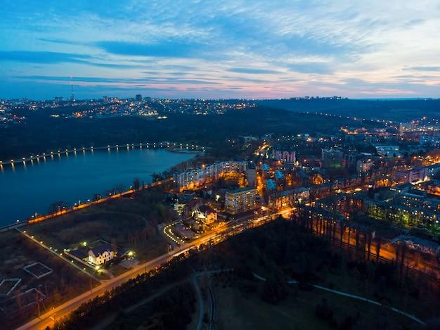 Chisinau stad 's nachts