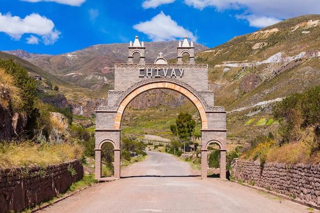 Chivay stad, peru