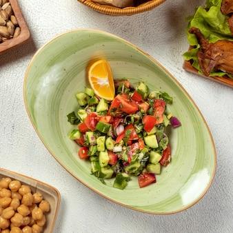 Choban salade, shepherd's salad bovenaanzicht