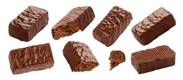 Chocolade bedekt snoep geïsoleerd