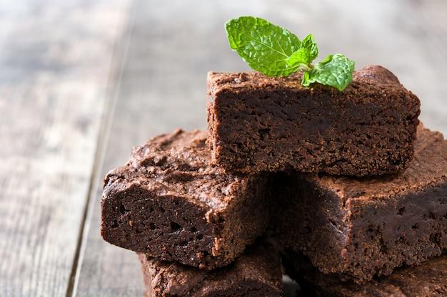 Chocolade brownie porties