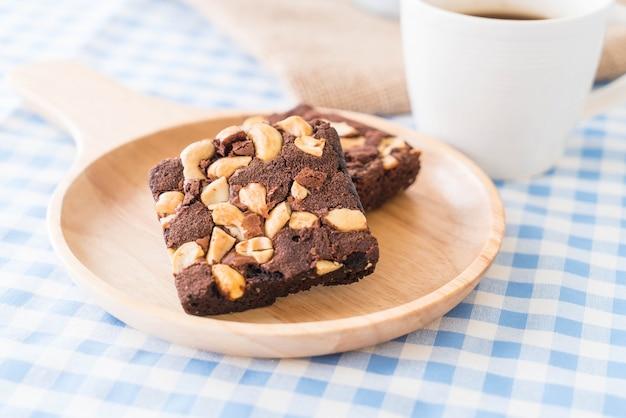 Chocolade brownies op tafel