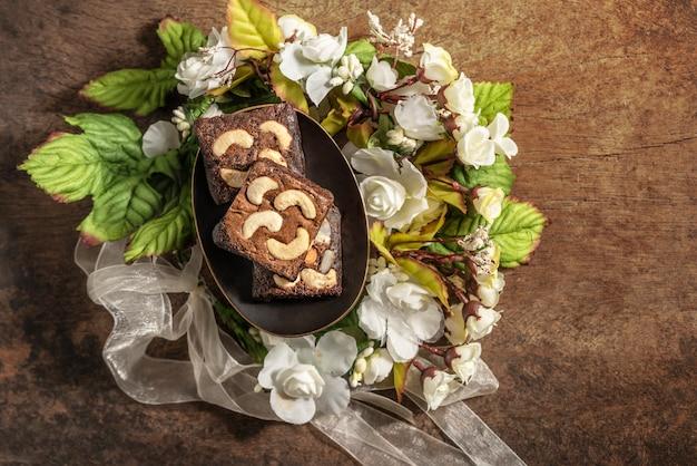 Chocolade cashewnoten cake