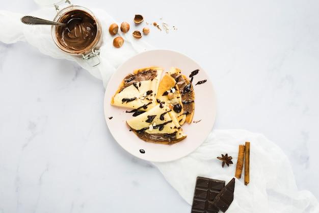 Chocolade crêpe