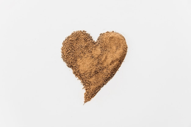 Chocolade druppels in hartvorm