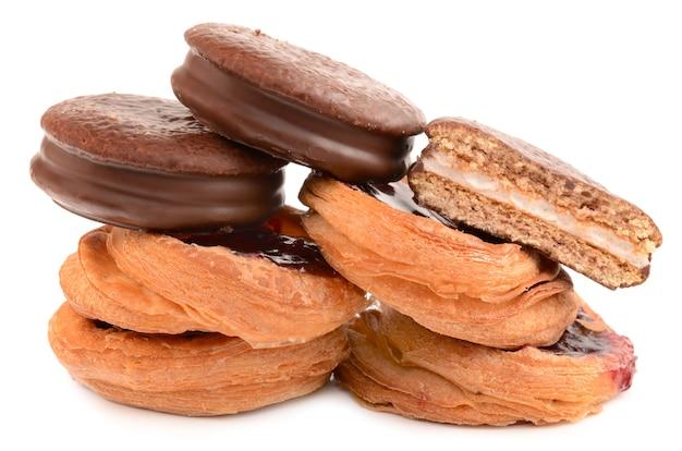 Chocolade en bladerdeegkoekjes