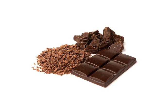 Chocolade geïsoleerd op een witte achtergrond.