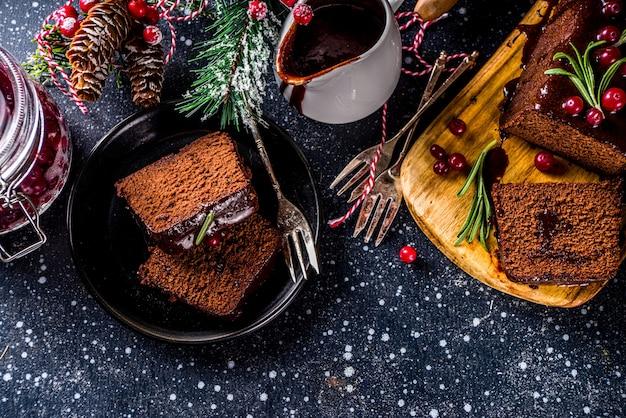 Chocolade gingerbread cake