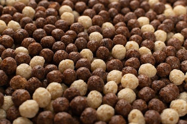 Chocolade granen ballen mix textuur achtergrond