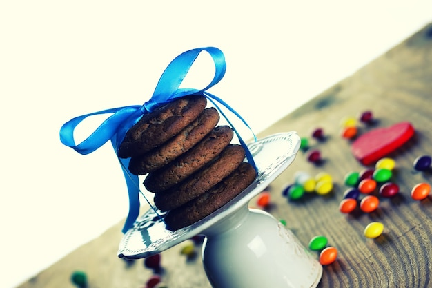 Chocolade koekjes lint snoep