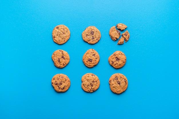 Chocolade koekjes. zelfgemaakte koekjes