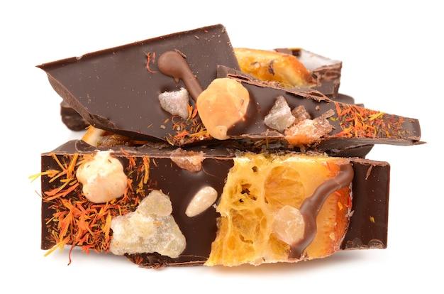 Chocolade met fruit en noten