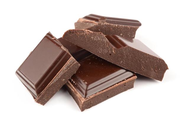 Chocolade op witte achtergrond