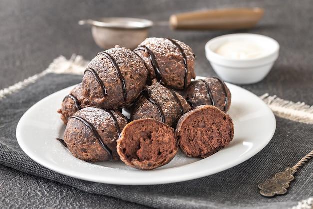 Chocolade pannenkoekpuppies