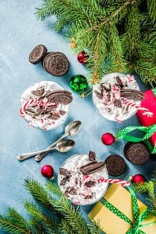 Chocolade pepermunt kleinigheidje van kerstmis