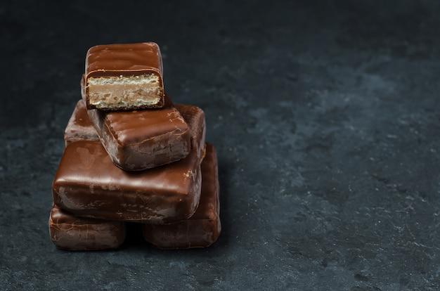 Chocolade snoep in het donker