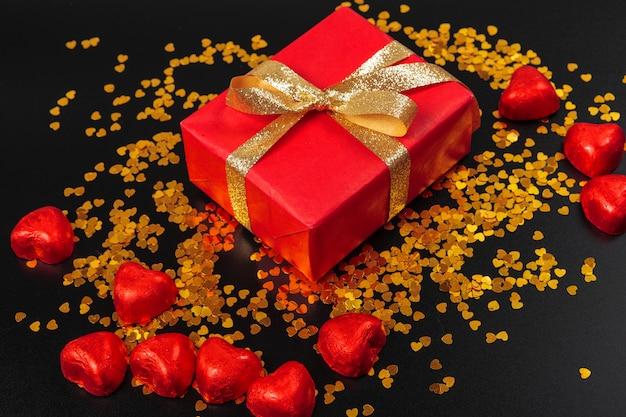 Chocolade snoepjes hart