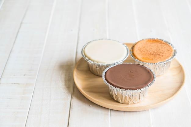 Chocolade, vanille melk en zachte melkcake