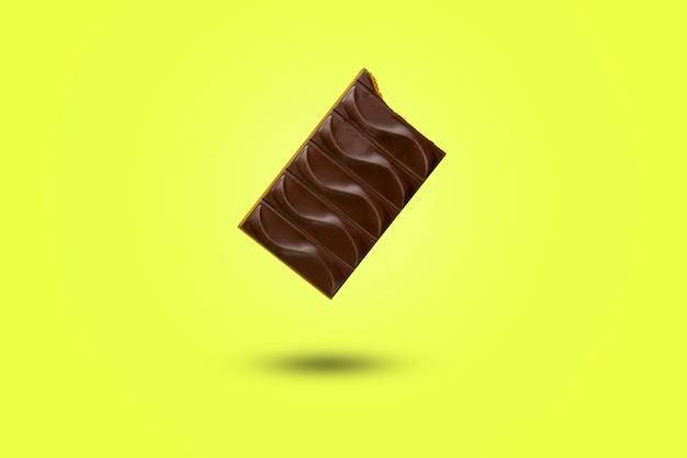Chocolade vierkante reep dessert zoet snoep stuk