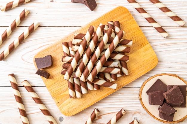 Chocolade wafels stokbroodje