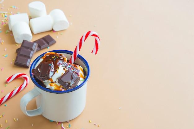 Chocoladedrank met marshamallow