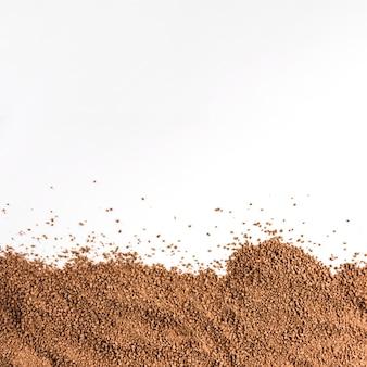 Chocoladedruppels verspreiden