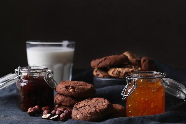 Chocoladekoekjes met chocoladeschilfers