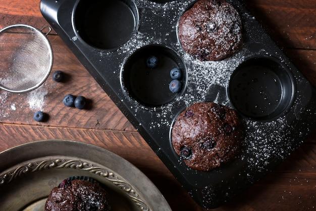 Chocolademuffins - amerikaans zoet voedsel