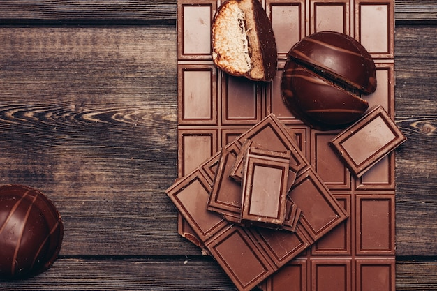 Chocoladereep achtergrond