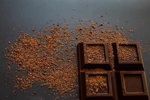 Chocoladereep en chocoladeschilfers, hoogste mening.