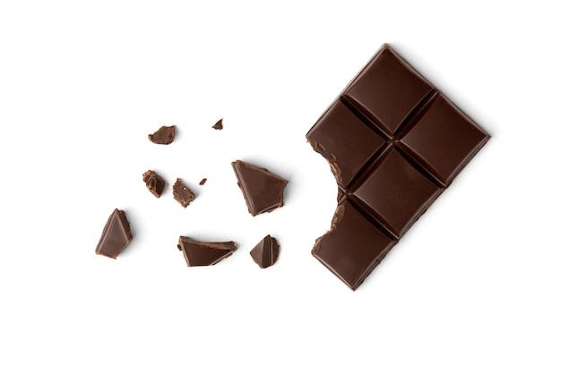 Chocoladereep geïsoleerd op wit