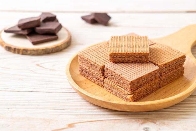 Chocoladewafels met chocoladeroom