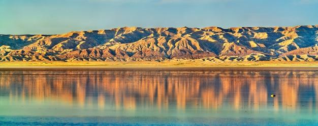 Chott el djerid, een endorisch zoutmeer in tunesië