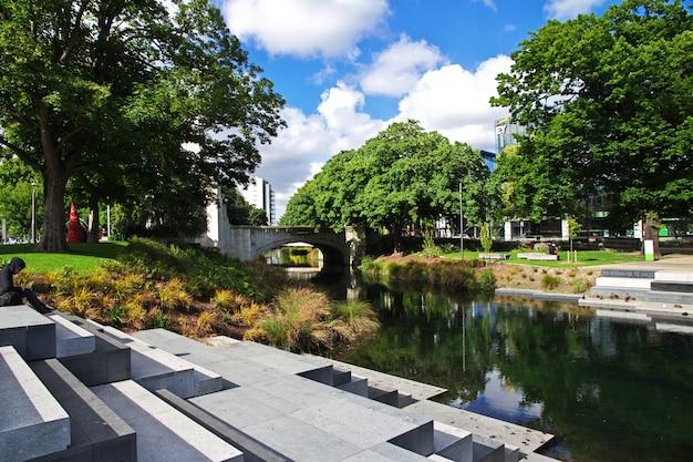 Christchurch op zuid-eiland, nieuw-zeeland