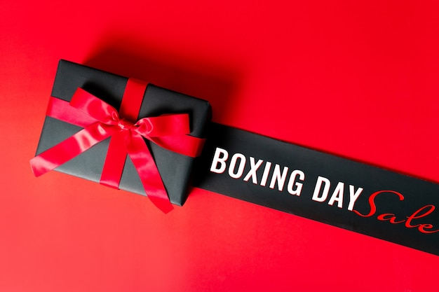 Christmas boxing day verkoop concept