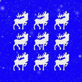 Christmas wenskaart met witte herten