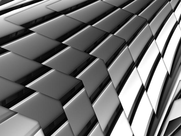 Chroom kleur geometrie grijze abstracte metalen strip. mooie vormen buiglijnen Premium Foto